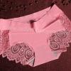 กางเกงในซีทรูขอบขา สีชมพูโอรส