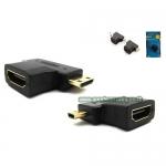 ตัวแปลง HDMI(F)-MICRO HDMI (M) หัวงอ