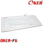 F6 MINI OKER KEYBOARD USB สีขาว