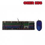 K56+MOUSE OKER KEYBOARD Mechanical RGB สีดำ
