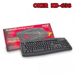 KB-638 Multimedia Gaming OKER KEYBOARD USB