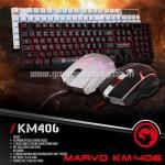 KM-406 MARVO KEYBOARD+MOUSE USB ไฟ