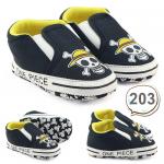 รองเท้าเด็กอ่อน รองเท้าเด็กหัดเดิน ลายกระโหลก สีดำ - One pieces black 203