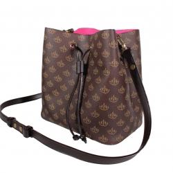 กระเป๋าเก็บเงิน 'พูล เพิ่ม ทรัพย์' แบบถือและสะพายซับในหนังชมพู