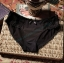 กางเกงในผ้าPolyผสมผ้าฝ้ายBikini สีดำ