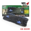 KB-222M MD-TECH KEYBOARD USB (BLACK/BLUE)