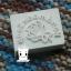 HANDMADE SNOW ROSE SOAP STAMP 3 X 4 CM.