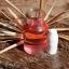 ชุดทำยาดม ผสม น้ำมันโรสแมรี่ (สีแดงอ่อน)+หลอดยาดมสีขาว