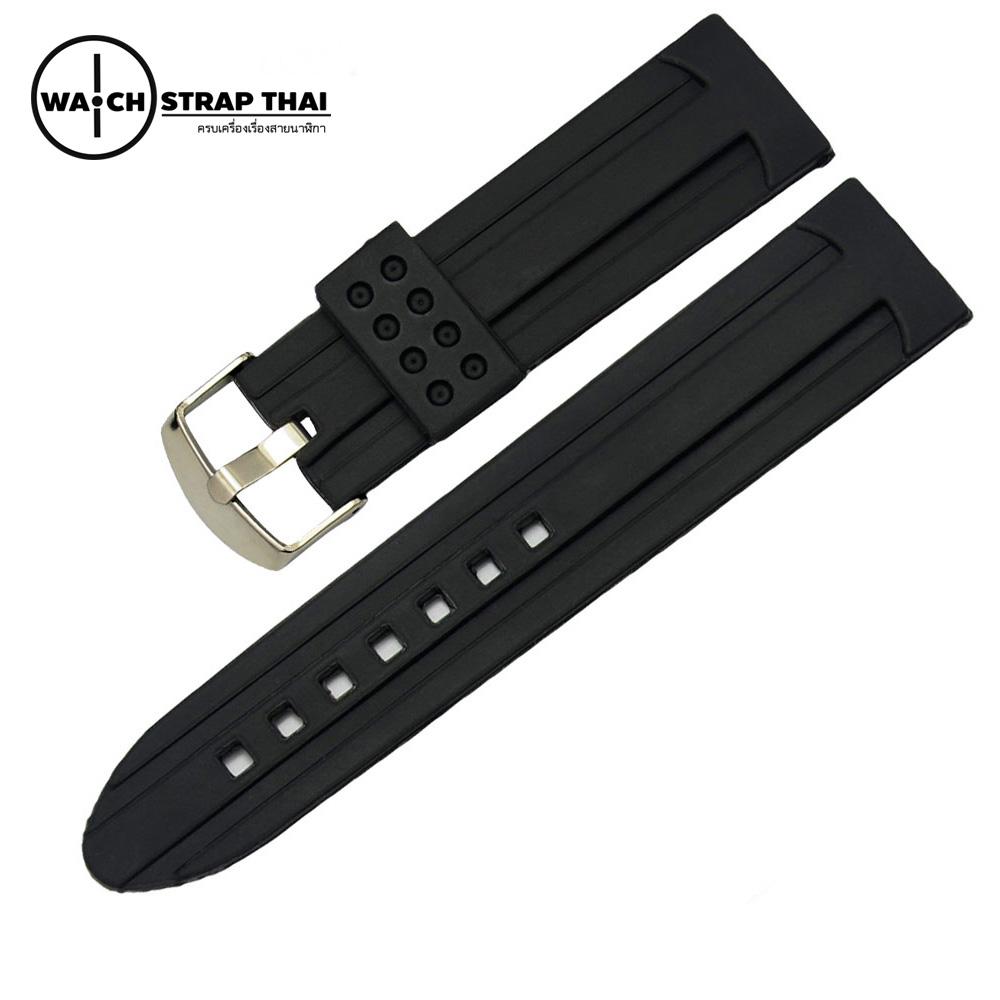 สายนาฬิกายาง SET02 Silicone Watch Strap มีขนาด 20,22,24 mm