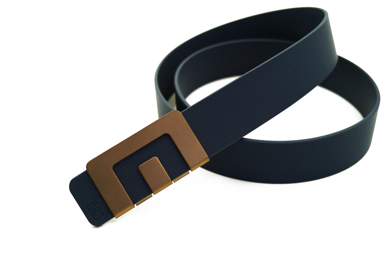 เข็มขัด MIN Belt หัวทองแดง - สายน้ำเงิน