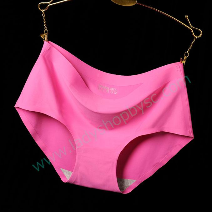 กางเกงในไร้ขอบ สีชมพูเข้ม