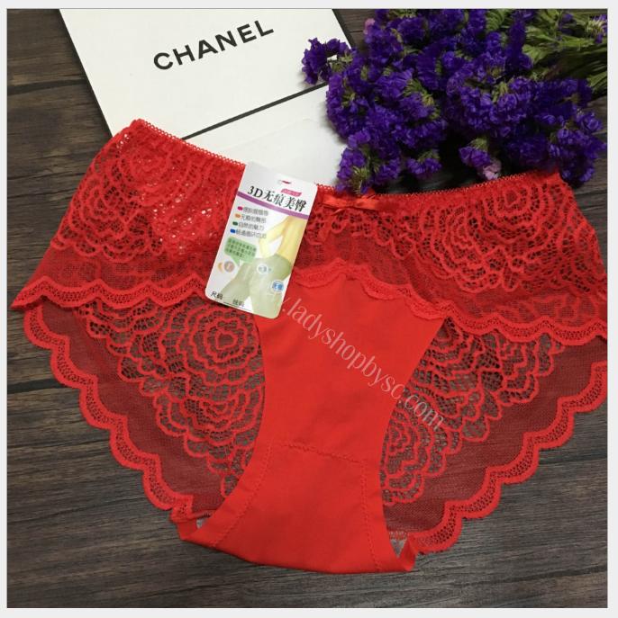 กางเกงในเซ็กซี่ ซีทรูเต็มตัว สีแดง