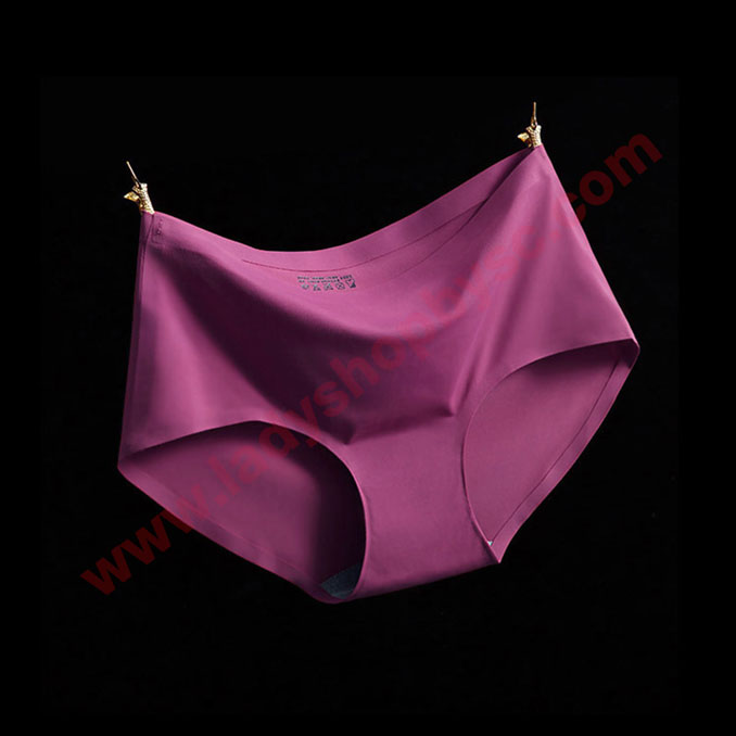 กางเกงในไร้ขอบ สีม่วงเปลือกมังคุด