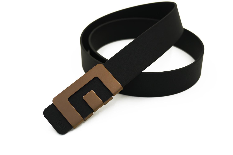 เข็มขัด MIN Belt หัวทองแดง - สายดำ