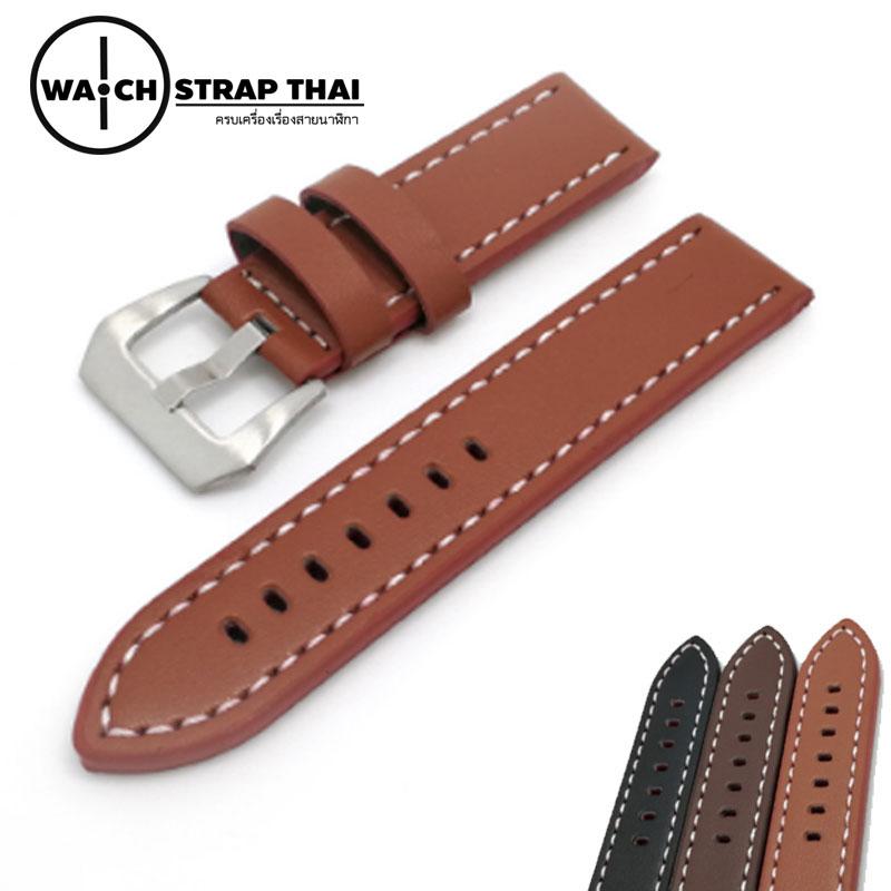 สายนาฬิกา สายนาฬิกาหนังวัว SET05 Leather Strap สีนำ้ตาล Brown ขนาด 22,24 มม สำหรับ Panerai,seiko