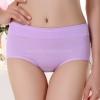 กางเกงในผ้าฝ้ายผสม สีม่วง