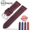 สายนาฬิกา สายนาฬิกาหนังวัว SET06 Leather Strap สีน้ำตาลเข้ม Dark Brown Leather Watch Strap 20,22 mm