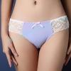 กางเกงในผ้าPolyผสมผ้าฝ้ายBikini สีม่วง - ขาว