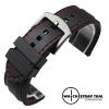 สายนาฬิกายาง เดินด้ายแดง SET02 Rubber Watch Strap Red มีขนาด 20,22,24 mm