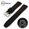 สายนาฬิกายาง RUBBER B แดง สำหรับ ROLEX ขนาด 20 mm RUBBER B WATCH STRAP RED