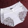 กางเกงในซีทรูขอบขา สีขาว