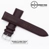 สายนาฬิกาหนังวัว Minimal Style Leather Watch Strap สีน้ำตาล Brown ขนาด 20 , 22 สำหรับ Rolex,Seiko,Omega