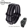 สายนาฬิกาซูลู หัวบัคเคิลดำ สายนาฬิกาผ้าไนลอน Jamebond Zulu Nylon Watch Strap Black Buckle สายนาฬิกาเจมส์บอน มีขนาด 20 , 22 mm