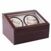 กล่องหมุนนาฬิกา AUTOMATIC WATCH WINDER BROWN กล่องใส่นาฬิกา 4 x 6 เรือน สำเนา