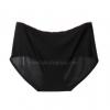 กางเกงในไร้ขอบแถบสี ขอบเรียบ สีดำ