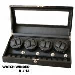 กล่องหมุนนาฬิกา AUTOMATIC WATCH WINDER BLACK กล่องใส่นาฬิกา 8 x 12 เรือน กล่องใส่นาฬิกา 20 เรือน