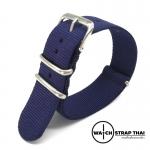 สายนาฬิกานาโต้ สายนาฬิกาผ้าไนลอน NATO Nylon Watch Strap Blue มีขนาด 18 , 20 , 22 mm สำหรับ Rolex , Seiko , Omega