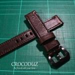 สายนาฬิกา สายนาฬิกาหนังวัว ฟอกฝาด Genuine Leather Strap มีสี Dark Brown