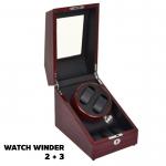 กล่องหมุนนาฬิกา AUTOMATIC WATCH WINDER BROWN กล่องใส่นาฬิกา 2 x 3 เรือน