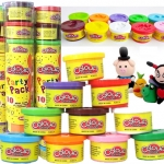 แป้งโดว์-เซต-10-กระปุกเล็ก-colour-dough-party-pack-10-mini-can