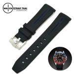 สายนาฬิกายาง RUBBER B น้ำเงิน สำหรับ ROLEX ขนาด 20 mm RUBBER B WATCH STRAP BLUE