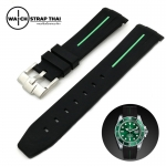 สายนาฬิกายาง RUBBER B เขียว สำหรับ ROLEX ขนาด 20 mm RUBBER B WATCH STRAP GREEN
