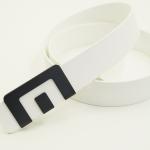 เข็มขัด MIN Belt หัวดำ - สายสีขาว