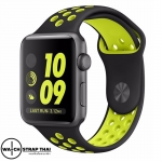 สายนาฬิกา Apple Watch สายนาฬิกายาง01 Apple watch rubber strap Black-Yellow ขนาด 38 mm , 42 mm