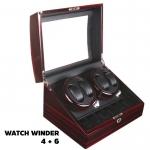 กล่องหมุนนาฬิกา AUTOMATIC WATCH WINDER Brown กล่องใส่นาฬิกา 4 x 6 เรือน