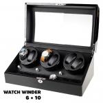 กล่องหมุนนาฬิกา AUTOMATIC WATCH WINDER BLACK กล่องใส่นาฬิกา 6 x 10 เรือน