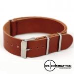 สายนาฬิกานาโต้ สายนาฬิกาหนังวัว Brown Nato Leather Strap มีสี Brown มีขนาด 20 , 22 mm สีน้ำตาล