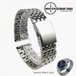 สายนาฬิกา สแตนเลท Stainless watch strap SET03 ขนาด 20 , 22 mm สำหรับ Rolex Submarine , Seiko สำเนา
