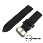 สายนาฬิกา สายนาฬิกาหนังวัว SET01 Leather Strap สีดำเดินด้ายดำ Black Leather Watch Strap 20,22,24 mm สำหรับ PAM