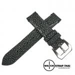 สายนาฬิกาหนังปลากระเบนขัดแท้ Genuine String ray Leather Watch Strap ขนาด 20 mm ,22mm