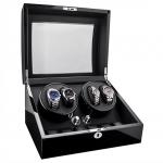 กล่องหมุนนาฬิกา AUTOMATIC WATCH WINDER BLACK กล่องใส่นาฬิกา 4 x 6 เรือน