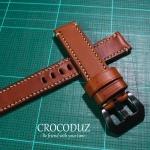 สายนาฬิกา สายนาฬิกาหนังวัว ฟอกฝาด Genuine Leather Strap มีสี Brown Tan