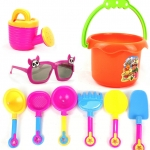 ของเล่นตักทรายครบชุด-สีสันสดใส-พร้อมแว่นตาไร้เลนส์สำหรับคุณหนู