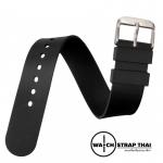 สายนาฬิกายางนาโต้ Nato Ruber Watch Strap Black สายนาฬิกายางนาโต้สีดำ มีขนาด 20,22 mm