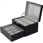 กล่องใส่นาฬิกา 20 เรือน กล่องเก็บนาฬิกาความจุ 20 เรือน watch box 20 กล่องนาฬิกา