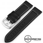 สายนาฬิกา สายนาฬิกาหนังวัว SET06 Leather Strap สีดำ BLACK Leather Watch Strap 20,22 mm